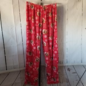 Intimates & Sleepwear - Rudolph the red nosed Reindeer size xl pajama bott